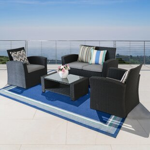 Wilkie 5 Piece Rattan Sectional Seating Group With Cushions By Rosecliff Heights At Online Store