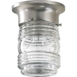Charlton Home Northgate 1-Light Jelly Jar Semi Flush Mount
