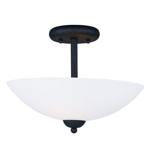 Caves 2-Light Semi Flush Mount by Latitude Run