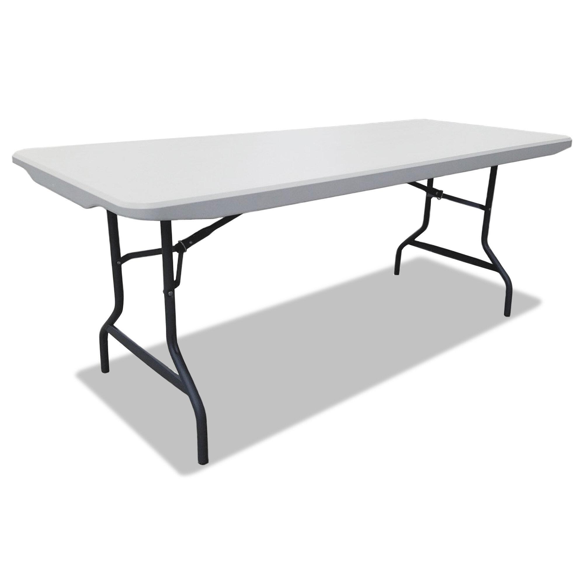 Alera Plastic Rectangular Portable Folding Table Reviews Wayfair