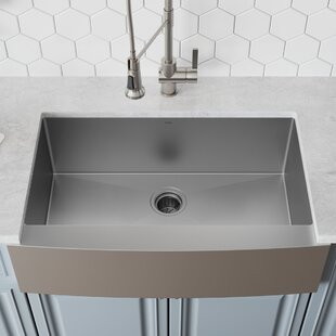 Hammered Nickel Farmhouse Sink | Wayfair