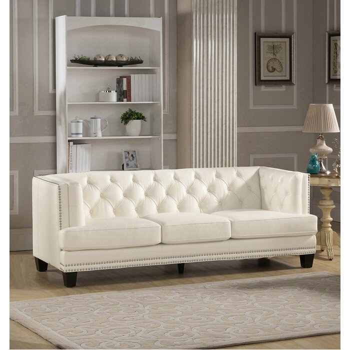 Newport Leather Chesterfield Sofa