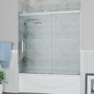 Savings Sierra 59 x 59 Single Sliding Tub Door ByOve Decors