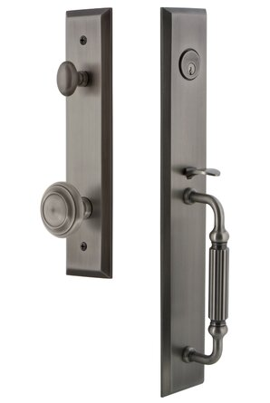 Complete Inactive Fifth Avenue Dummy Handleset with Circulaire Knob and Fifth Avenue Rosette
