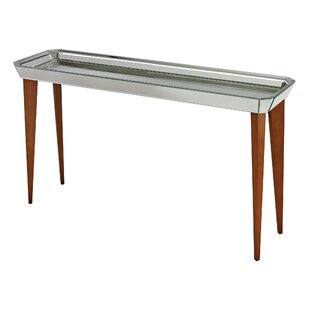Ching Mid Century Mirrored Console Table