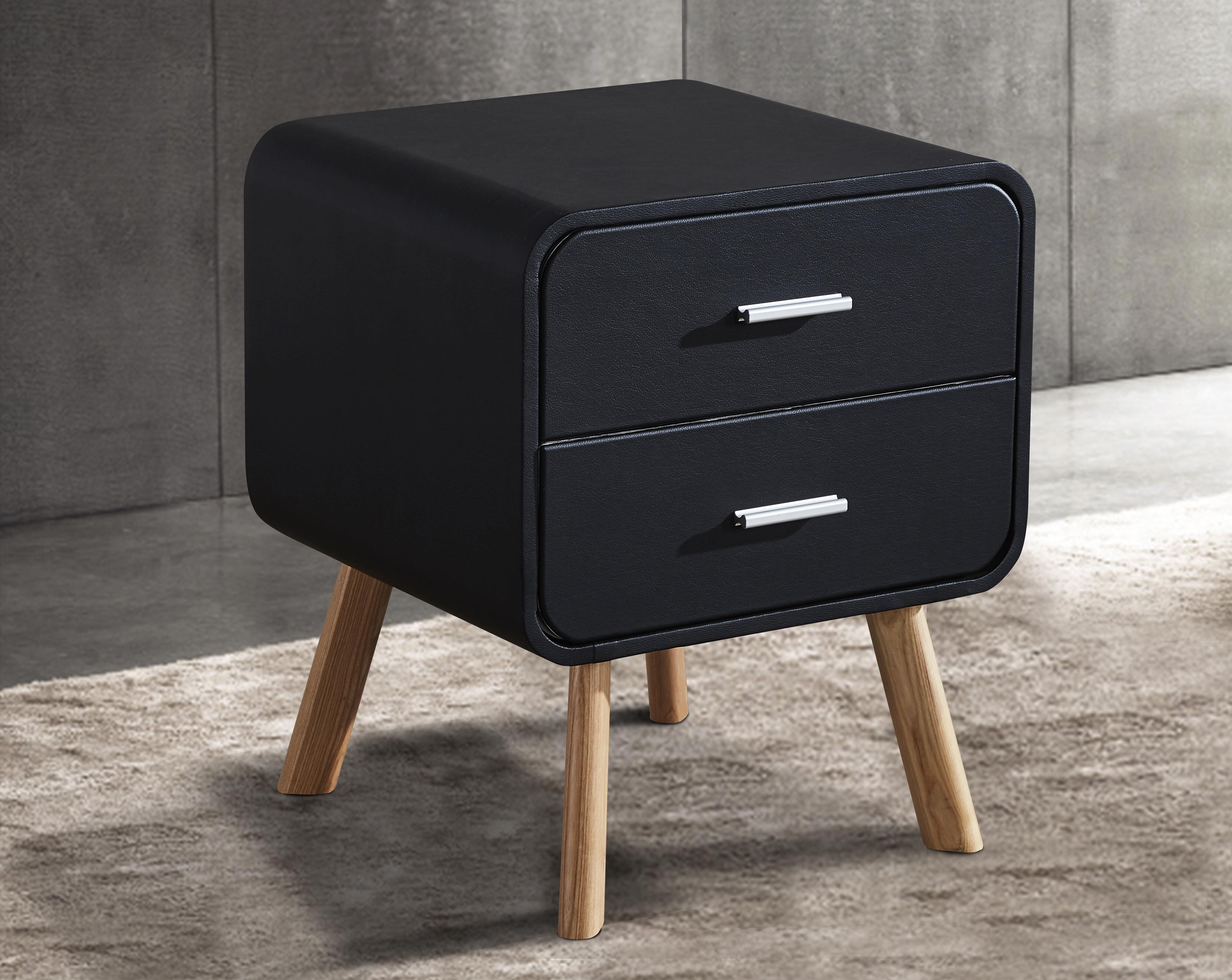 ebern designs hieu 2 drawers nighstand w