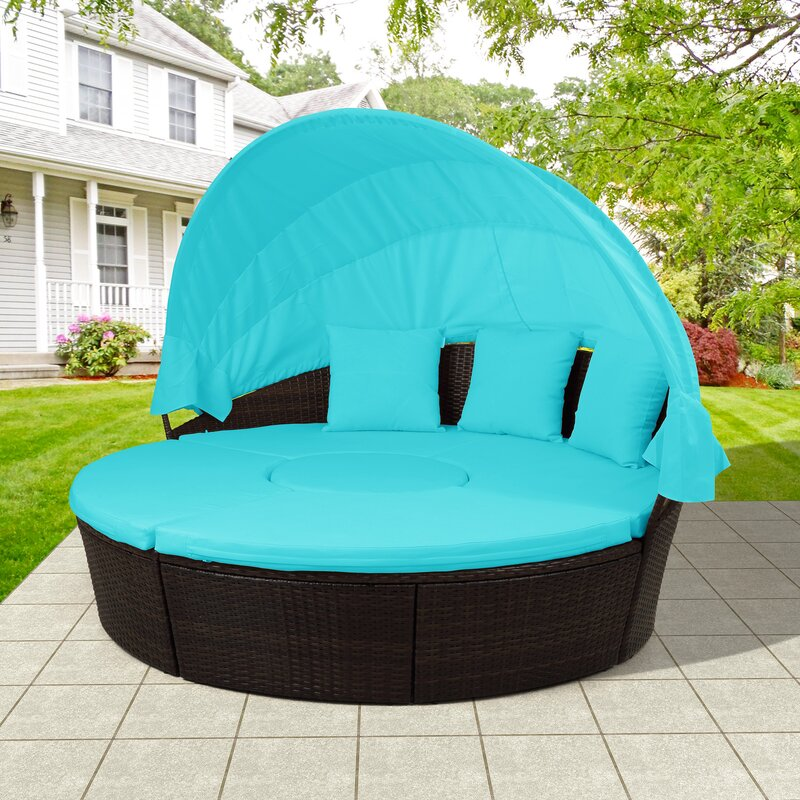 Latitude Run Chantice Patio Daybed with Cushion