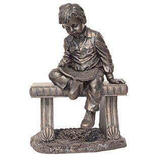 Design Toscano Bobby and His Book Boy Garden Statue
