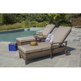 Bedard Reclining Chaise Lounge with Cushion (Set of 2)