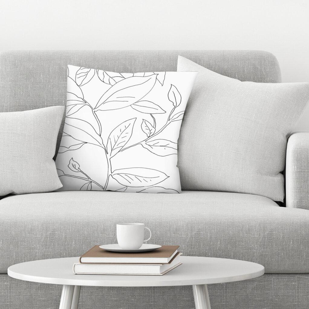 East Urban Home Delicate Movement I Throw Pillow Wayfair
