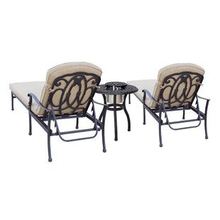 Dolby 3 Piece Chaise Lounge Set with Cushions by Astoria Grand