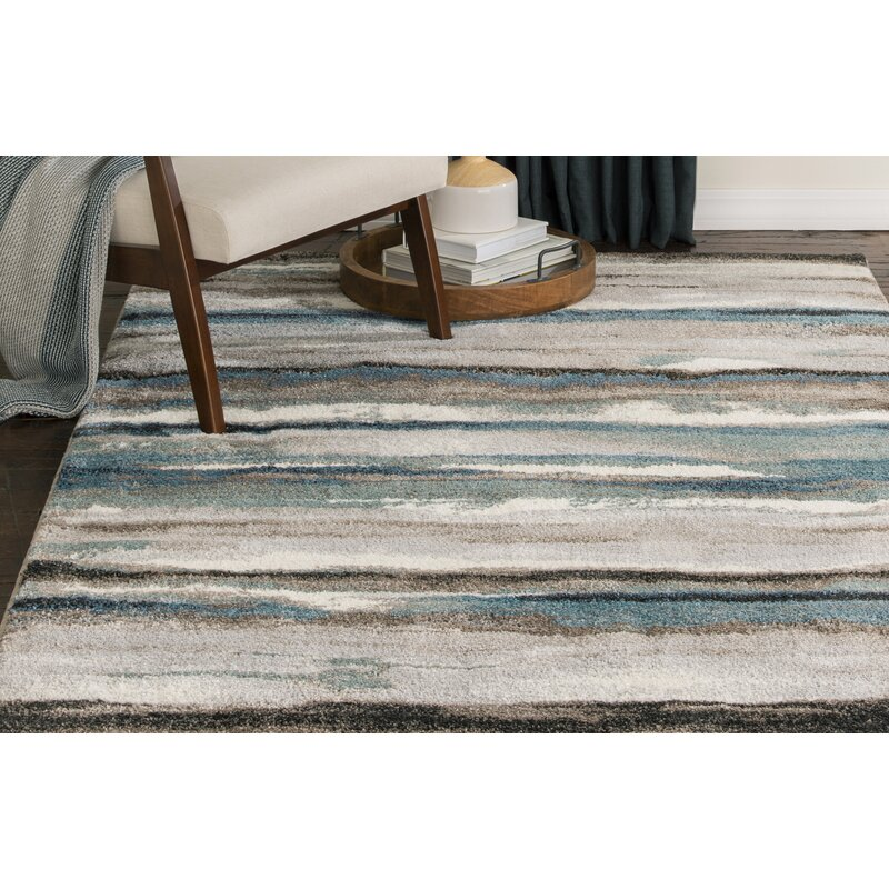 Latitude Run Jayesh Abstract Blue Brown Area Rug Reviews Wayfair