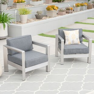 Banning Patio Chair with Cushions (Set of 2)