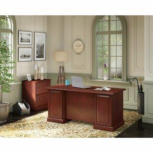 Bennington 2 Piece Rectangular Desk Office Suite by Kathy Ireland Office by Bush