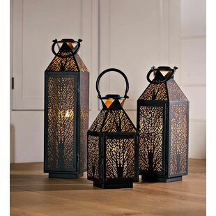 Plow & Hearth 3 Piece Metal Lantern Set