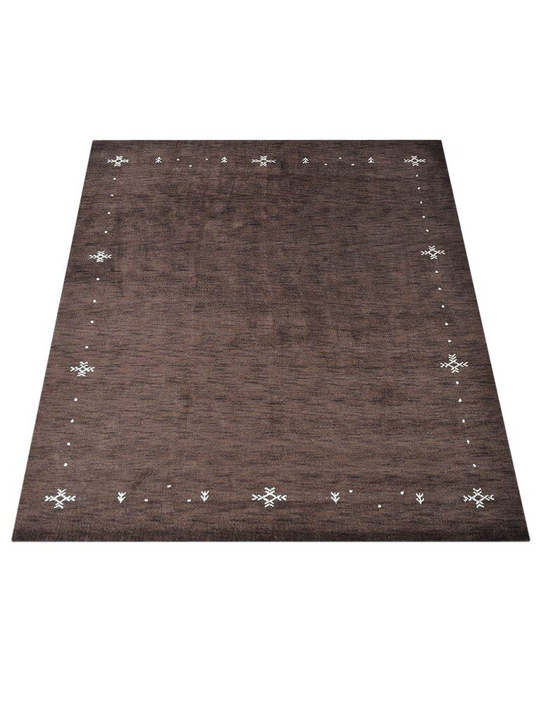 Union Rustic Maggiemae Oriental Hand Knotted Wool Brown Area Rug Wayfair
