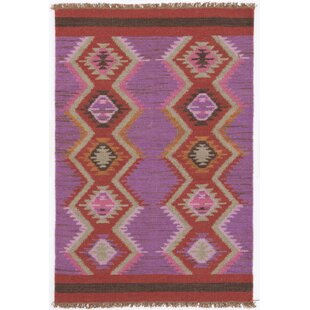 Hand Woven Purple Red Area Rug By Dash And Albert Rugs