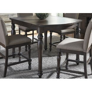 Three Posts Bulpitt Gathering Counter Height Extendable Dining Table