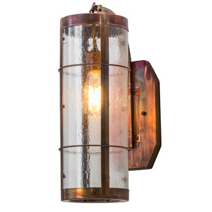 Top Middlebury LED Outdoor Sconce By Loon Peak
