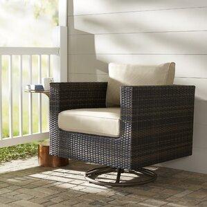 lara swivel rocking chair with cushions - Wicker Rocking Chair
