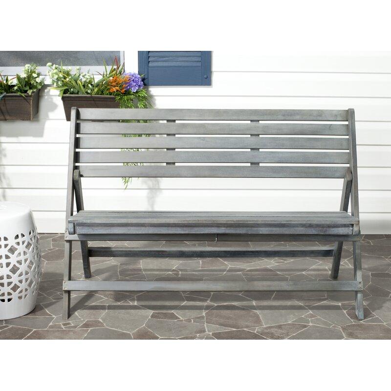 One Allium Way Mignardise Wooden Garden Bench