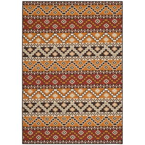 Rangely Red / Chocolate Outdoor Rug