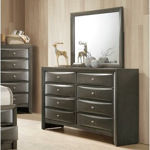 Weidman 8 Drawer Double Dresser with Mirror