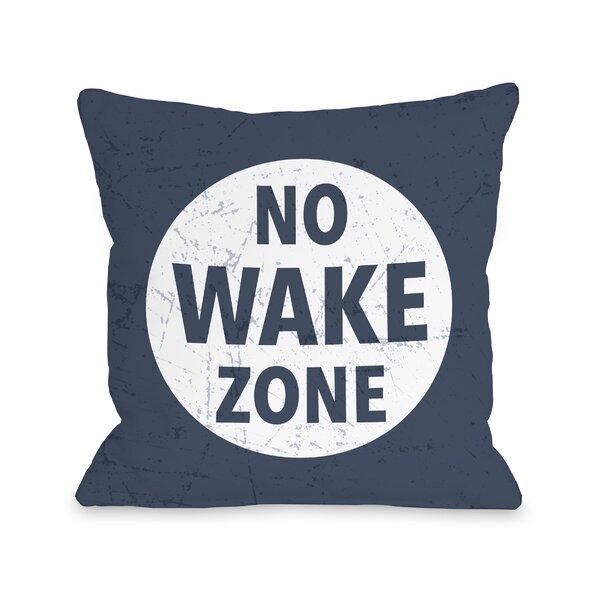 Breakwater Bay Barta No Wake Zone Throw Pillow Wayfair