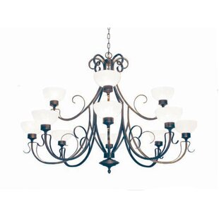 2nd Ave Design Mirasol 12-Light Shaded Chandelier