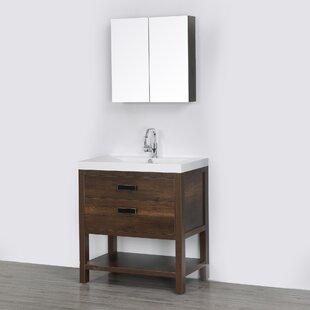 buy bathroom vanity double sink 32 single bathroom vanity set with mirror by streamline bath click to get cheap price