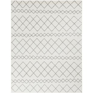 Read Reviews Calzada Global Gray/White Area Rug By Union Rustic