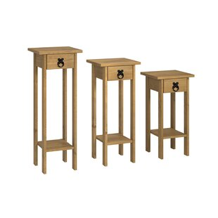 Corona 3 Piece Pedestal Plant Stand Set By Alpen Home