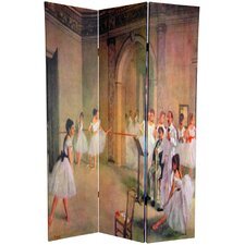 72 x 48 Double Sided Works of Degas 3 Panel Room Divider by Oriental Furniture