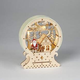 Wooden Christmas village decoration with lighting