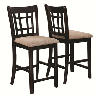 Redmont Armless Counter Height Solid Wood Dining Chair (Set of 2) Charlton Home