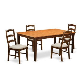 Burner 5 Piece Extendable Solid Wood Dining Set by Red Barrel Studio Find