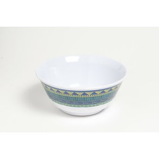 Yacht and Home 20 oz. On Lake Time Melamine Non-Skid Soup/Cereal Bowl (Set of 6)