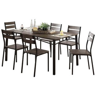 Brockway Wooden 7 Piece Counter Height Dining Table Set