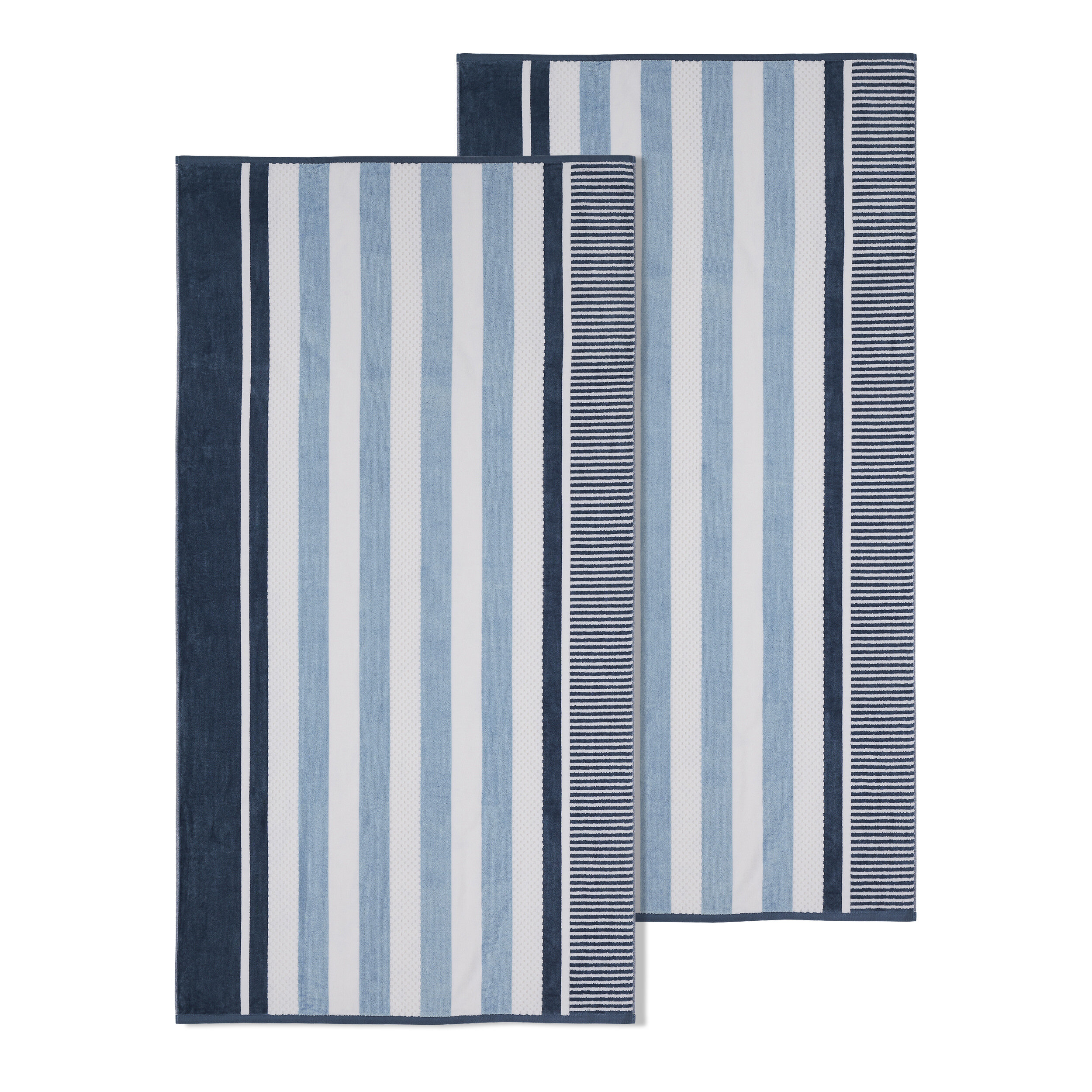 2 Piece 100 Cotton Beach Towel Set