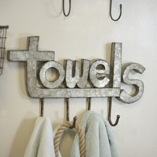 American Mercantile Metal Wall Mounted Towel Rack