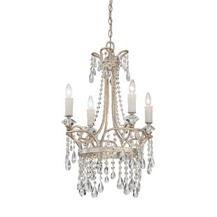 House of Hampton Spade 4-Light Empire Chandelier