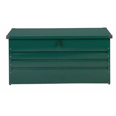 Cebrosa Outdoor 105 Gallon Metal Deck Box Beliani Color: Green