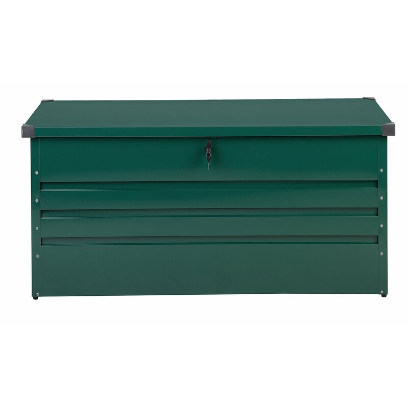 Beliani Cebrosa Outdoor 105 Gallon Metal Deck Box