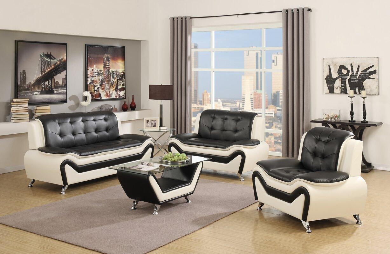 Latitude Run Elzada 4 Piece Living Room Set & Reviews | Wayfair