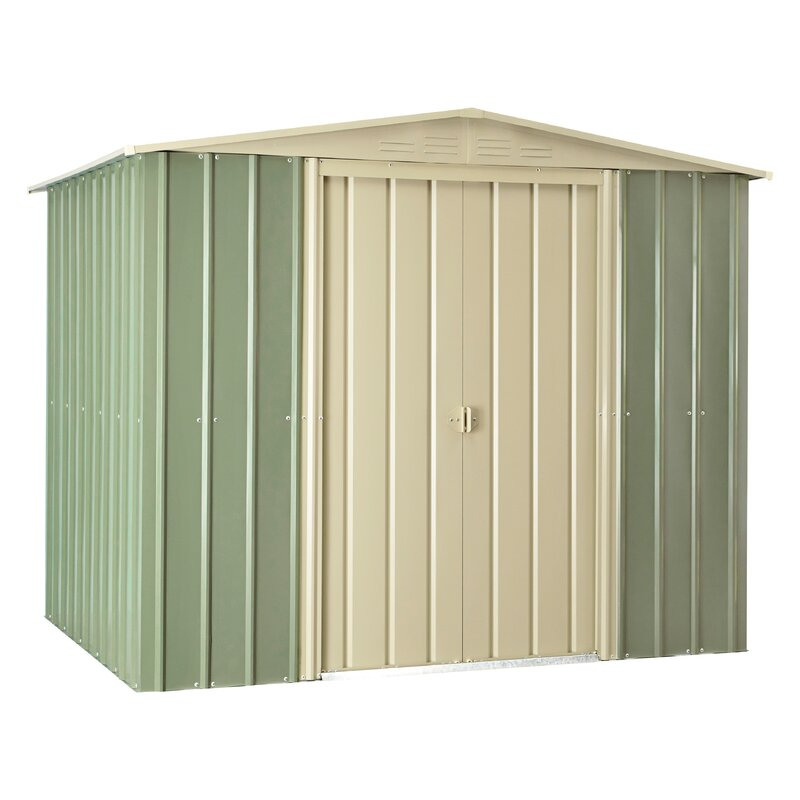 7 ft 8 in w x 5 ft 9 in d metal - Garden Sheds 7 X 9