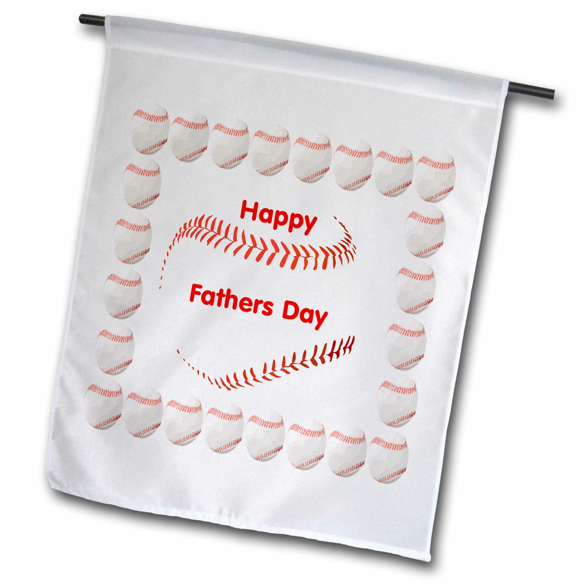 3drose Giant Baseball Says Happy Fathers Day Polyester 18 X 12 In Garden Flag Wayfair