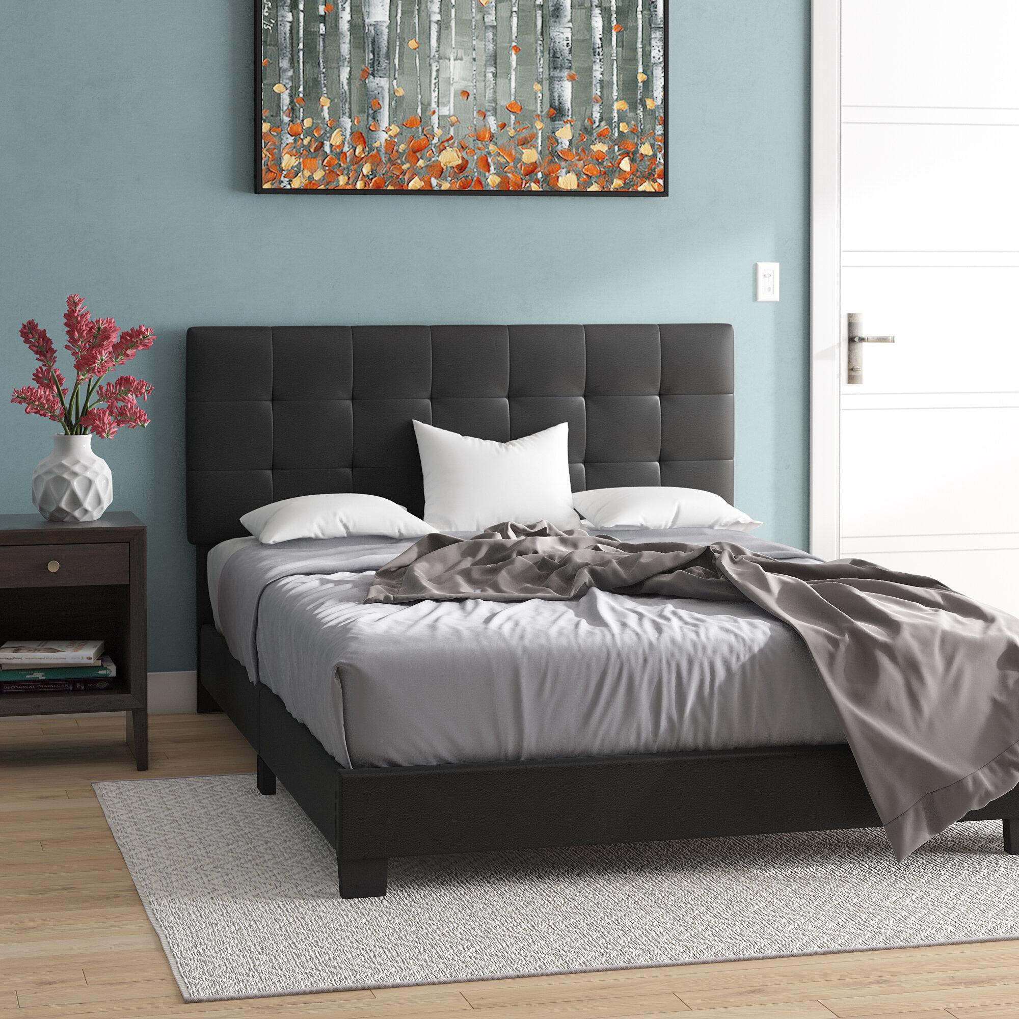 Admirable Serafina Upholstered Platform Bed Download Free Architecture Designs Jebrpmadebymaigaardcom