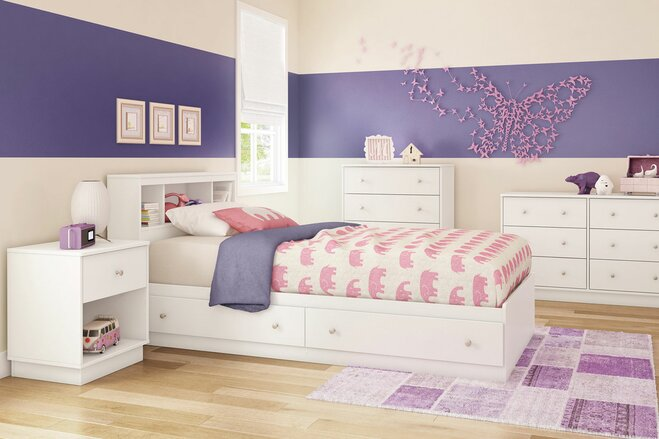 Pink Purple White S Bedroom