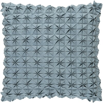 Brayden Studio Ebro Structure 100% Wool Throw Pillow Cover Size: 20 H x 20 W x 1 D, Color: Green