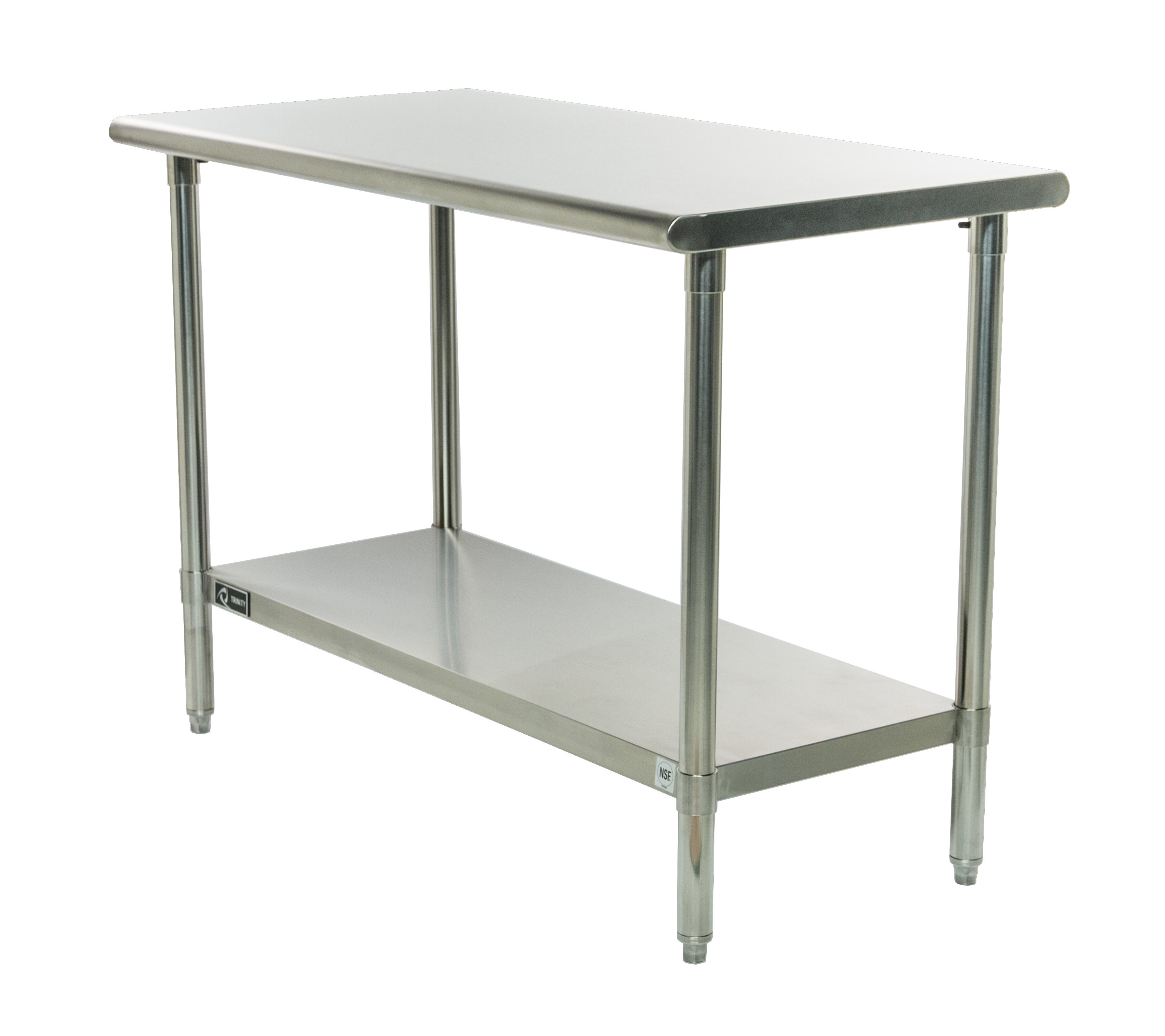 Rebrilliant 48W Adjustable Height Stainless Steel Top Workbench & Reviews